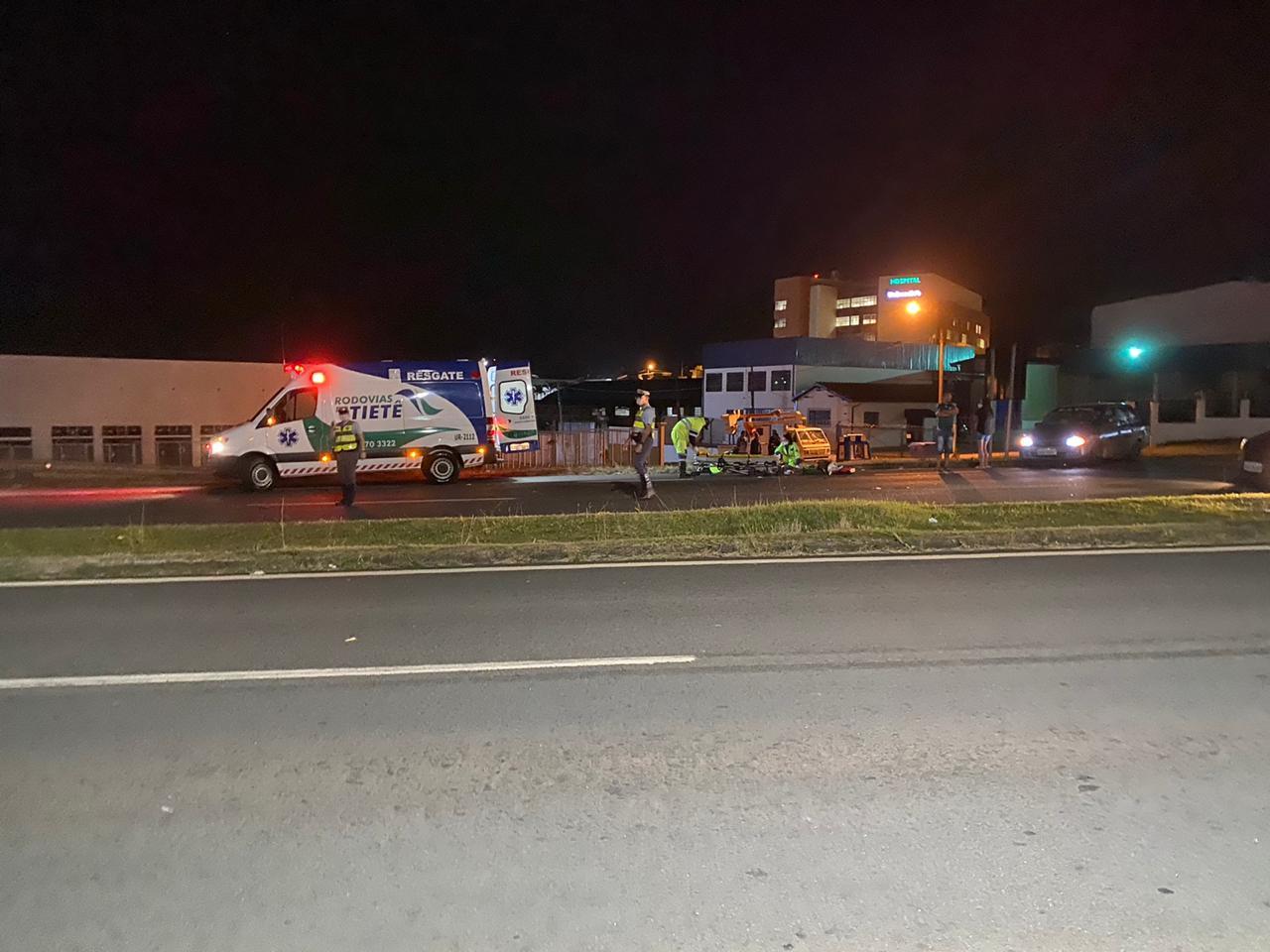 Morre o motociclista que atingiu um idoso que atravessava a pista da Castelinho
